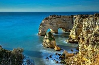 A golden view of the Algarve coastline